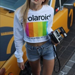 Polaroid Cropped Long Sleeve